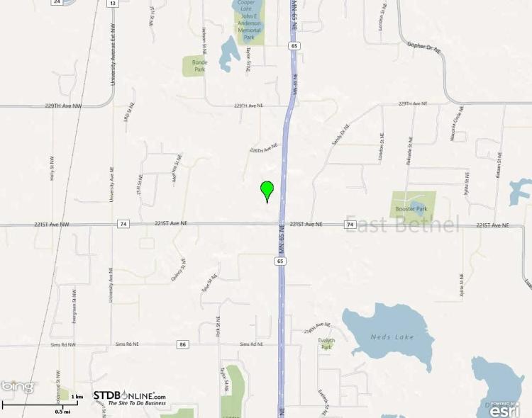 22126 Hwy 65 map
